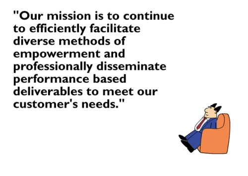 Dilbert's Mission Statement